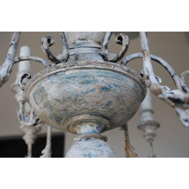 Twelve-Arm Italian Painted Chandelier For Sale - Image 4 of 8