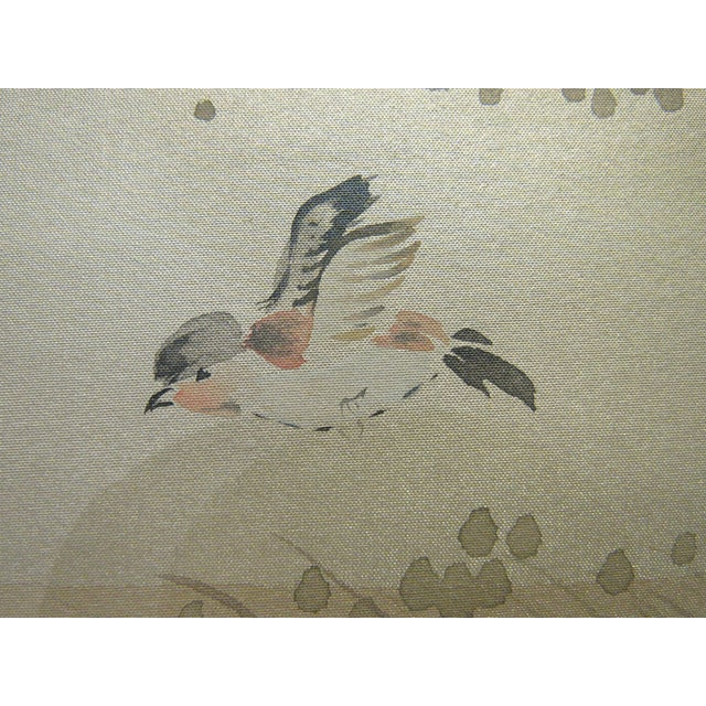 Stark Wallcovering Painted Hunting Scene Mural Wallcovering For Sale - Image 4 of 12