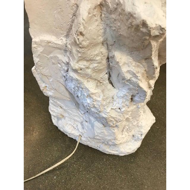 1990s Plaster Rock Floor Lamp For Sale - Image 5 of 12