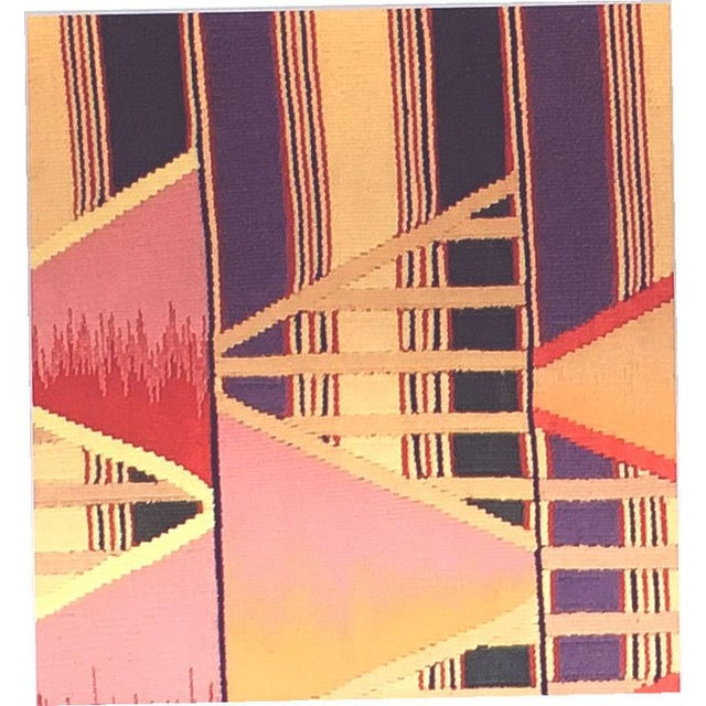 Geometric Art Deco Rug - 8′ × 10′ For Sale - Image 4 of 4