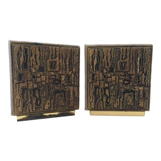 Vintage Mid-Century Brutalist Matina Brand Decor Products Bookends - a Pair For Sale