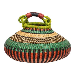 African Pot Basket For Sale