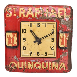 "French ""St. Raphael Quinquina"" Advertising Clock For Sale"