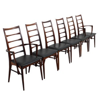 Koefoed Hornslet Danish Modern Rosewood Dining Chairs - Set of 6 For Sale