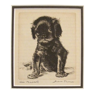 "1936 American Dog Portrait, ""His Majesty"""