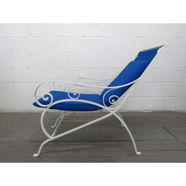 Pair of Wrought Iron Lounge Chairs For Sale - Image 4 of 9