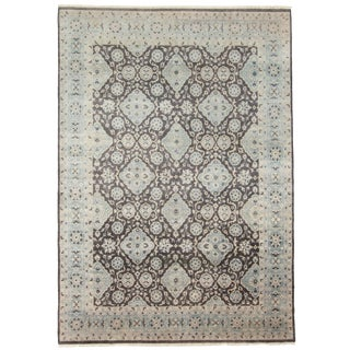 """8'7"""" X 12'2"""" Blue Hand-Knotted Rug For Sale"""