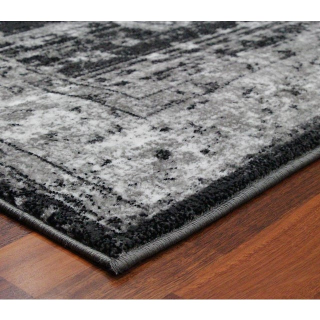 "Vintage Style Distressed Gray Rug- 5'3"" x 7'7"" - Image 4 of 5"