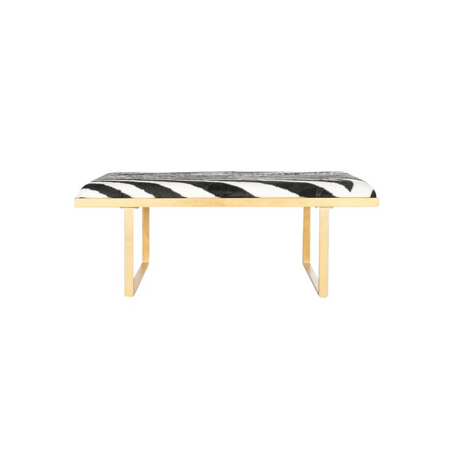 Hollywood Regency Zebra Gold Coffee Table For Sale