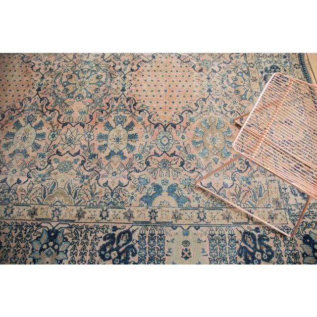 """Blue Vintage Kashan Carpet - 10'1"""" X 14'2"""" For Sale - Image 8 of 11"""