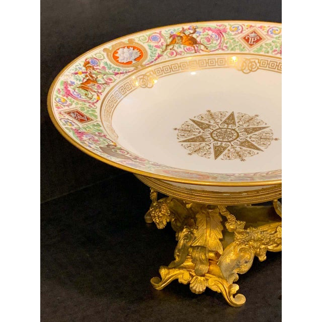 Sevres Porcelain Ormolu Tazza, From the Hunting Service of King Louis Philippe For Sale - Image 4 of 12