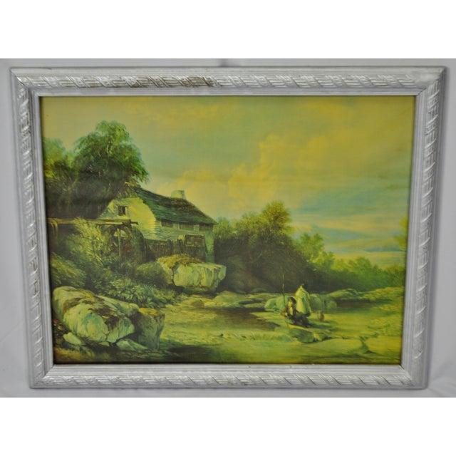 Vintage Framed Landscape Print by Muller For Sale - Image 4 of 12