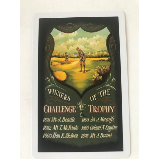 Late 20th Century Vintage Golf Scene Motif Congress Playing Cards - Double Deck For Sale - Image 5 of 7