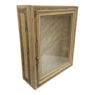Decorative Hand Painted Vitrine Cabinet