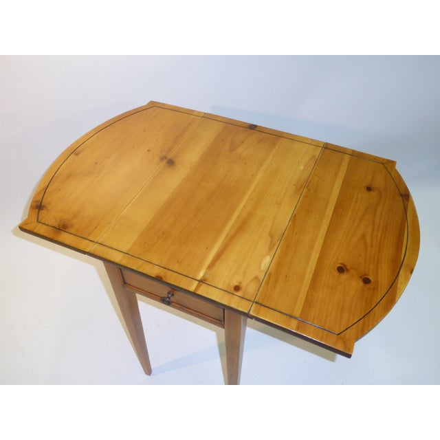Brown 1940s Georgian Pine Pembroke Table For Sale - Image 8 of 12