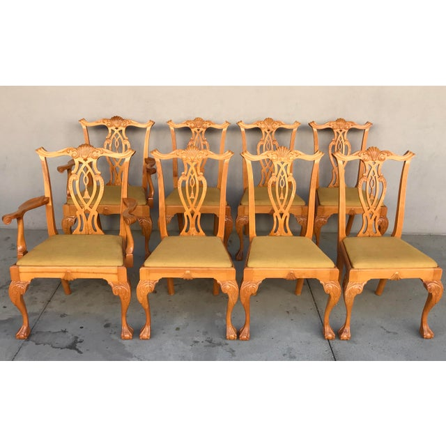 20th Century Boston Style Chippendale Mahogany Ball and Claw Foot Chairs - Set of 8 For Sale - Image 13 of 13