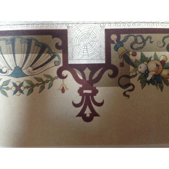 Decorative Ceiling German Chromo Lithograph - Image 4 of 5