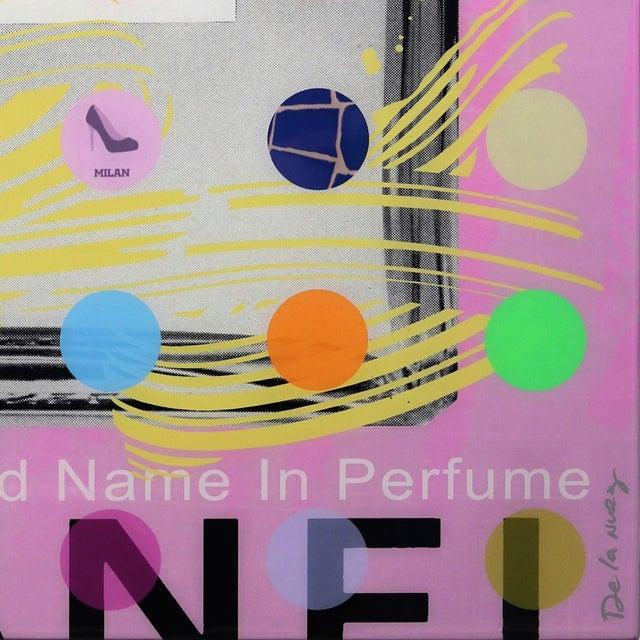 "2010s Nelson De La Nuez ""Chanel #5 Pink With Grey Bottle (118/125)"" Original Painting For Sale - Image 5 of 11"