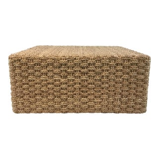 Palecek Hand Braided Seagrass Grove Coffee Table For Sale