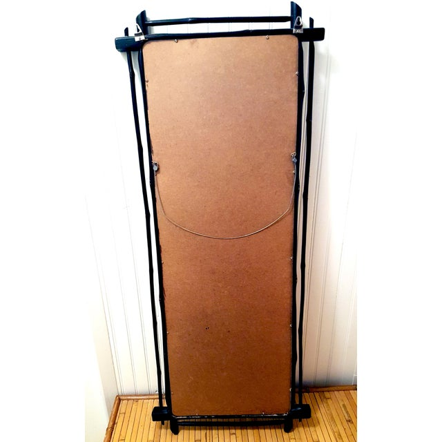 1980s 1980s Rustic Ebonized Bamboo Pier Mirror For Sale - Image 5 of 8
