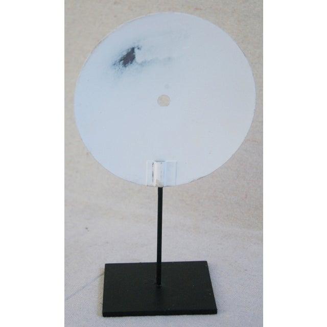 Black Porcelain & Metal Clock Faces on Stands - Set of 3 For Sale - Image 8 of 10