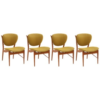Finn Juhl Sculpted Teak Dining Chairs - Set of 4 For Sale