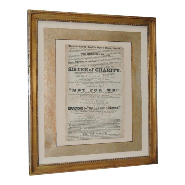 "Theatre Royal, English Opera House, Strand ""Sisters of Charity"" Flyer c.1920s For Sale"