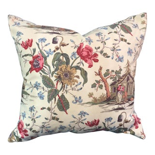 Brunschwig & Fils French Toile Pillow For Sale