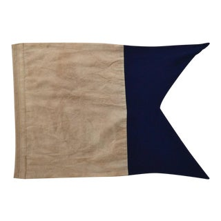"""Real Cotton Signal Flag Framed """"A"""" For Sale"""