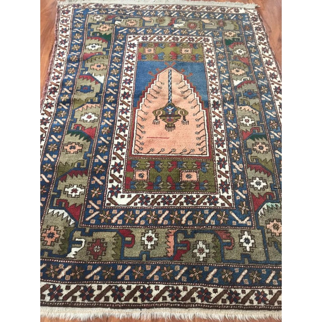 Antique Yahyali Pastel Tribal Rug For Sale - Image 4 of 5