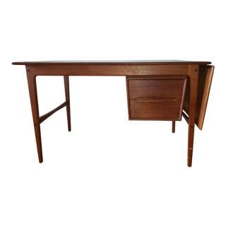 1960s Mid Century Modern Teak Writing Desk For Sale