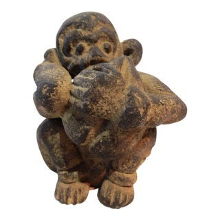 African Stone Figure of a Monkey