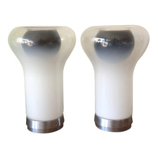 "Pair of Vintage Angelo Mangiarotti ""Saffo"" Lamps for Artemide"
