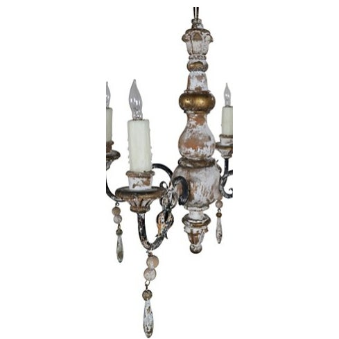 1930s Italian 4-Light Chandelier - Image 7 of 7