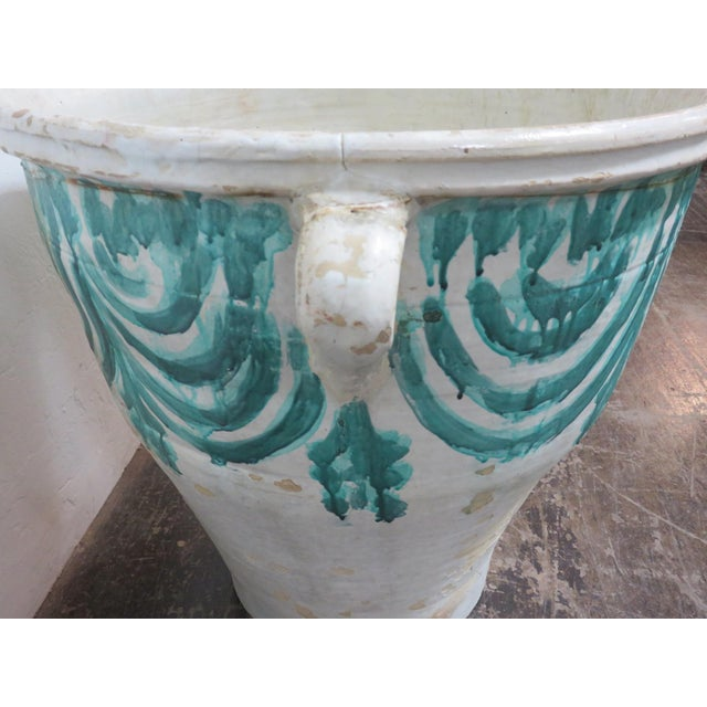 Antique Spanish Terra Cotta Mantequera From Triana Seville For Sale - Image 4 of 6