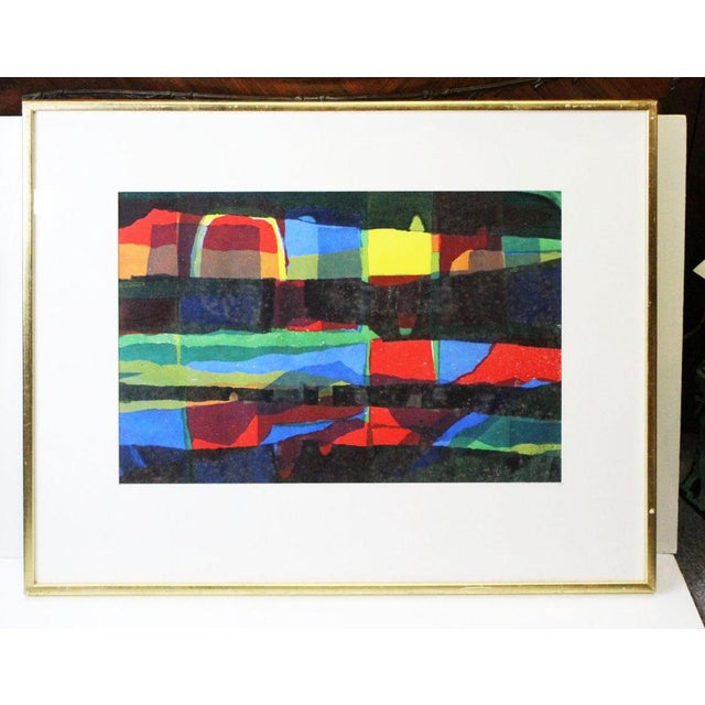 Red Abstract Framed Rainbow Print For Sale - Image 8 of 8
