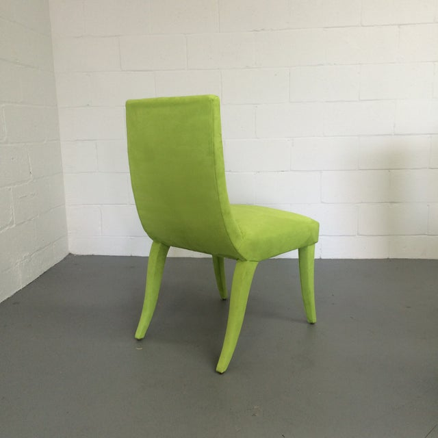 Mid Century Lime Dining Chairs - Set of 6 - Image 6 of 9