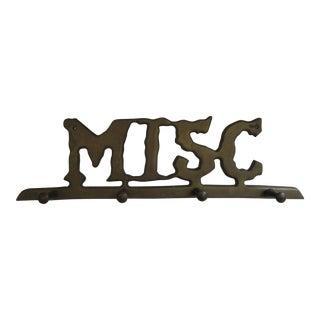 "Vintage Brass ""Misc"" Wall Hook"