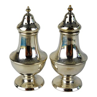 Monogrammed Antique Salt & Pepper Set For Sale