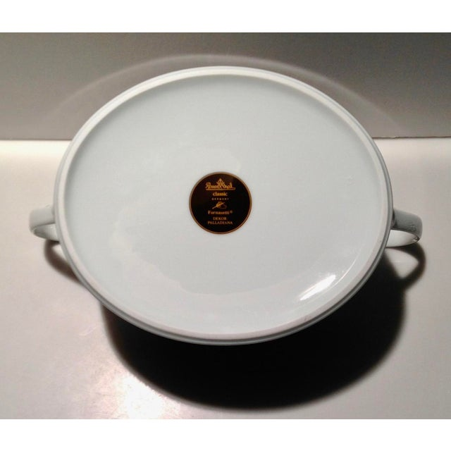 Ceramic Rosenthal Fornasetti Palladiana Coverd Vegetable Dish For Sale - Image 7 of 9