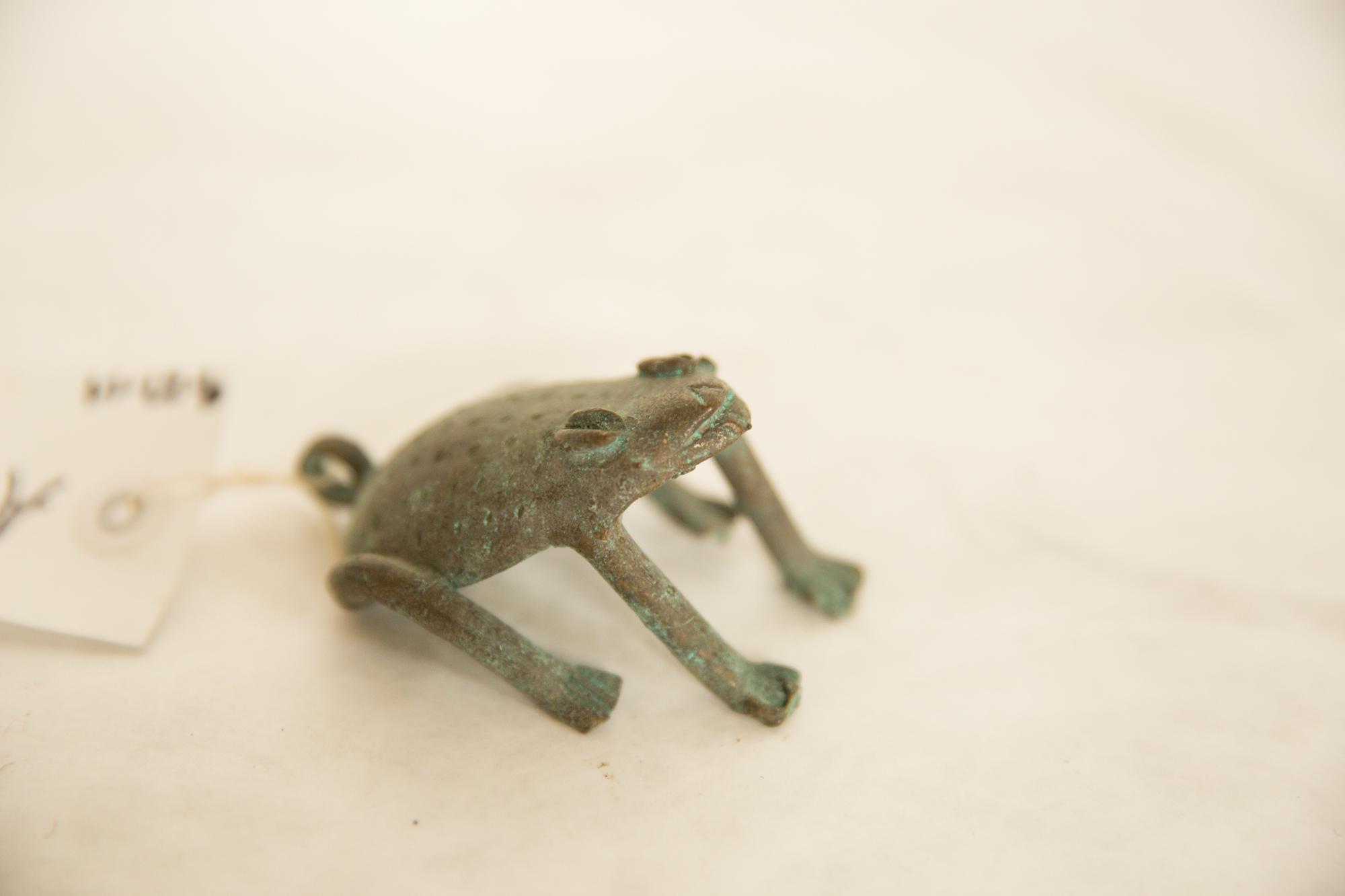 Vintage African Oxidized Copper Frog