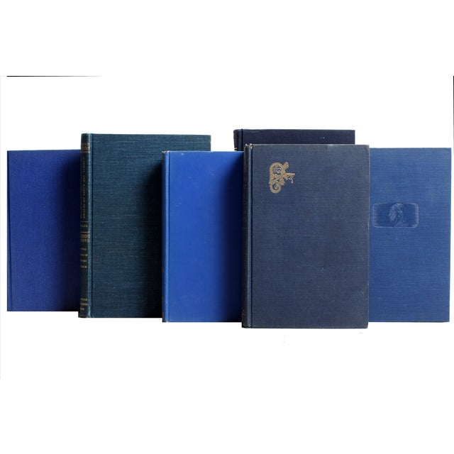 Decorative Gilt Blue Books- Set of 24 - Image 2 of 2