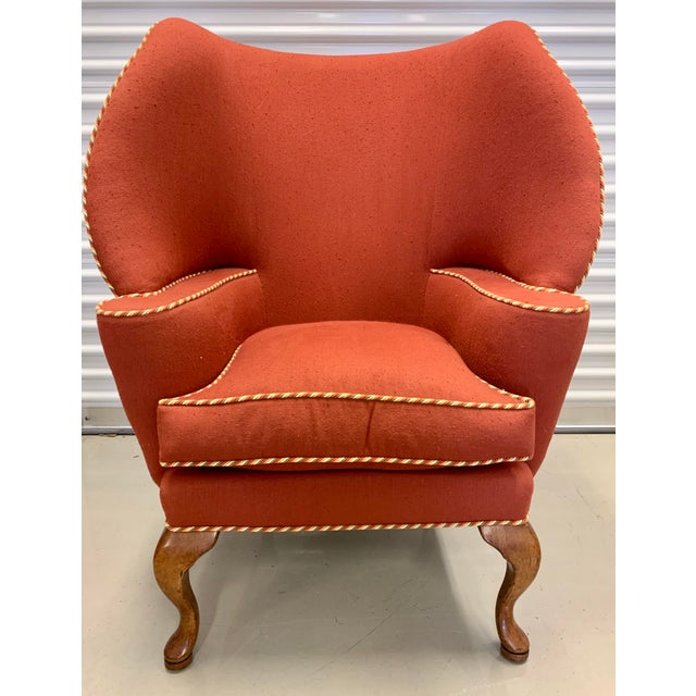 With a beautiful curved silhouette, this signed Minton Spidell papa bear upholstered chair will make a grand impression....