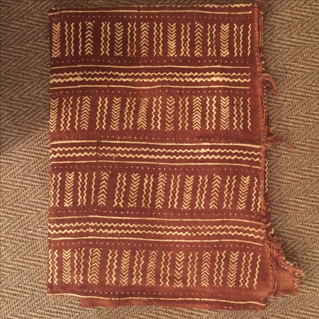 Terra Cotta African Mud Cloth - Image 2 of 4