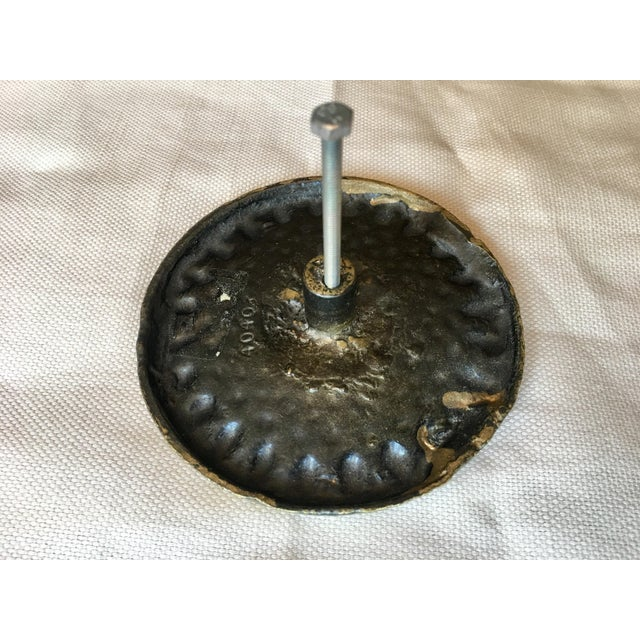 Late 20th Century 20th Century Art Deco Large Cast Decorative Knob For Sale - Image 5 of 6
