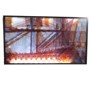 "Lighted Wall by Kristian Ystehede for ""Island Princess"" Aka ""The Love Boat"" 1971 For Sale"