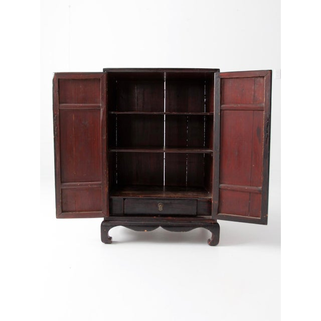 Antique Lacquered Asian Cabinet For Sale - Image 4 of 9