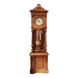 German Tall Case Grandfather Clock