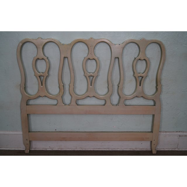 Vintage French Louis XV Style Queen Size Headboard - Image 4 of 10