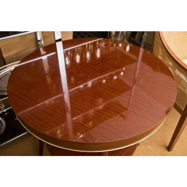 Faux Rosewood Table - Image 3 of 7